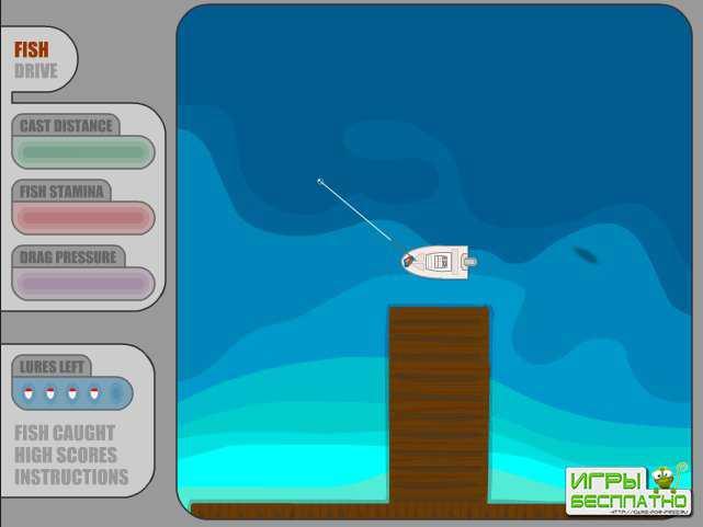 игры рыбалка на лодке