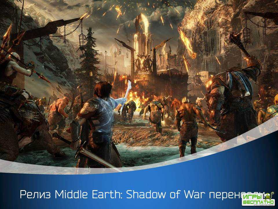 Релиз Middle Earth: Shadow of War перенесли