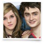 Гарри Поттер и Гермиона идут гулять