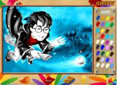 Раскрась Гарри на метле