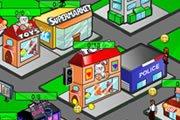 Городок с магазинами