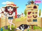 Девушка на ферме