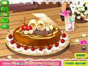 Шоколадный пирог с фруктами