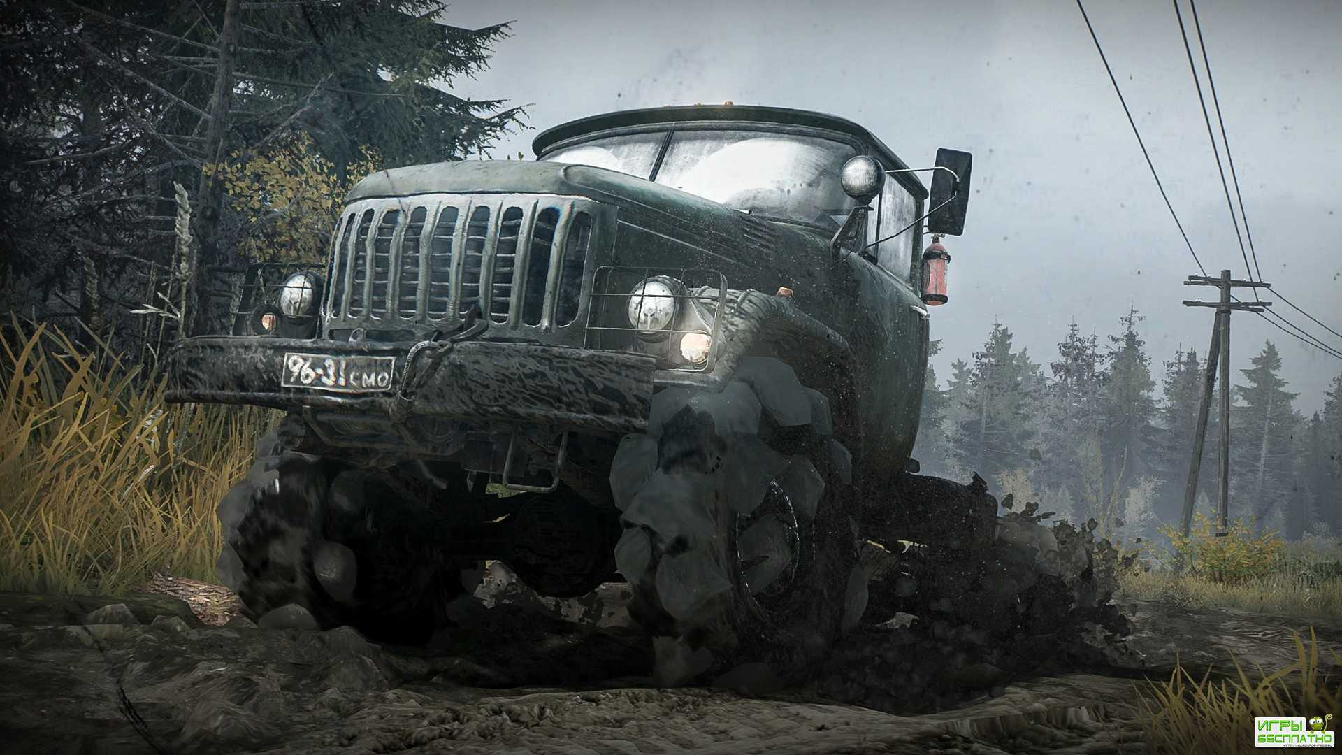 Новый трейлер симулятора езды по бездорожью Spintires: MudRunner