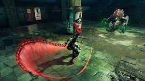 Сражение с одним из боссов в Darksiders 3