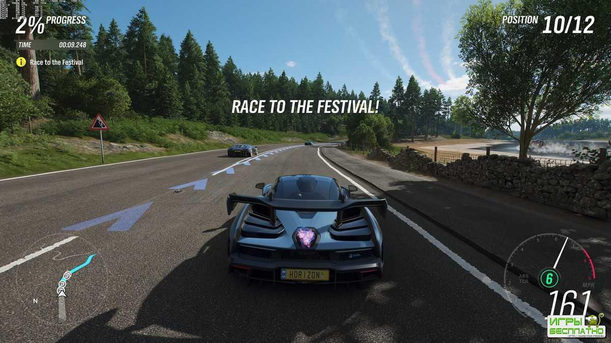 Forza Horizon 4 - геймплей компьютерной версии на экстремальных настройках графики