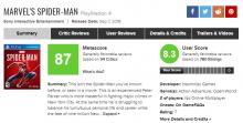 Spider-Man для PlayStation 4 - самая высокооцененная консольная игра про Человека-паука в истории