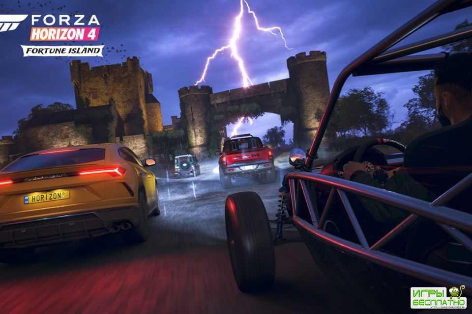 Forza Horizon 4 - представлен премьерный трейлер дополнения Fortune Island