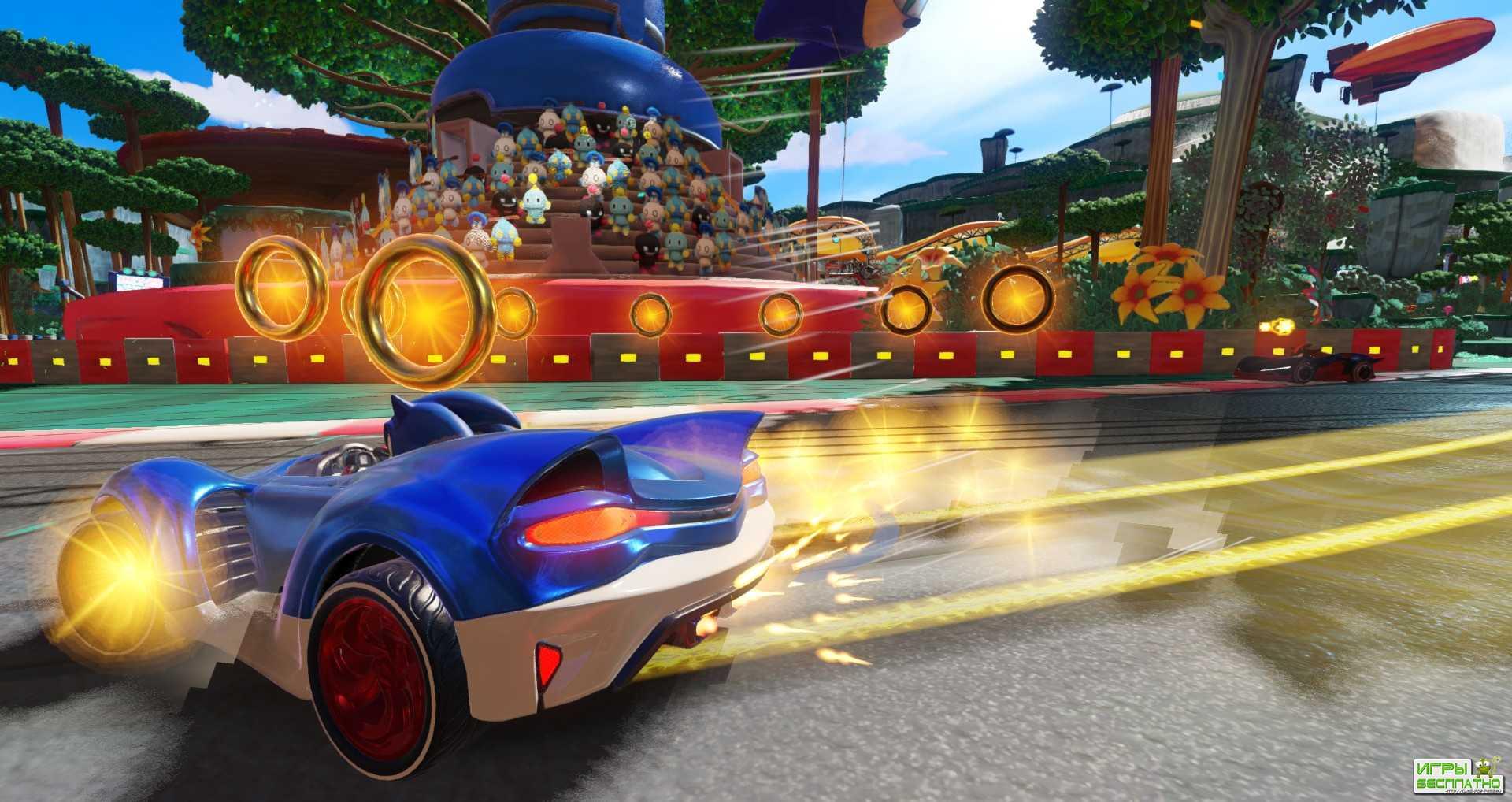 8 минут геймплея аркадной гонки Team Sonic Racing