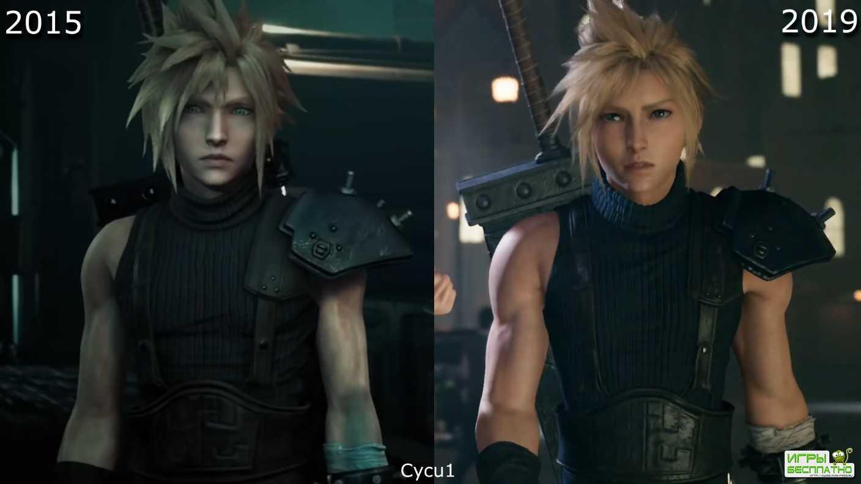 Final Fantasy VII Remake - как изменились персонажи и графика игры за четыре года разработки