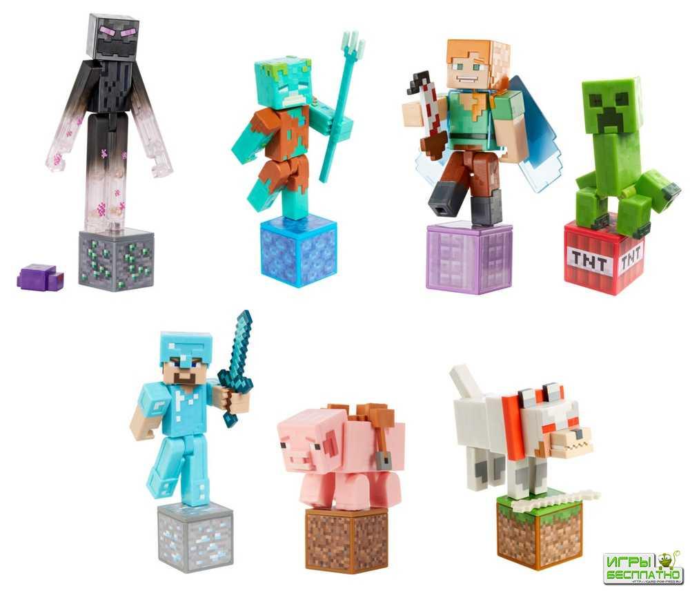 Показаны новые официальные фигурки из Minecraft. Они миленькие