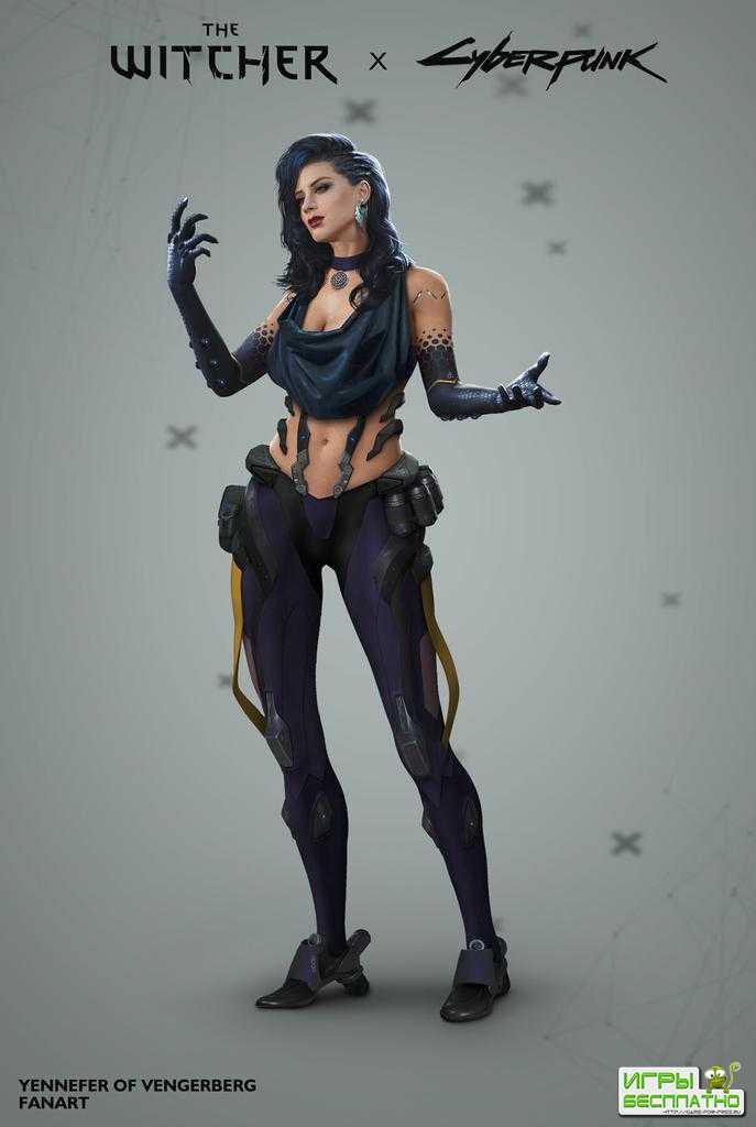 Как бы выглядела Йеннифэр в Cyberpunk 2077