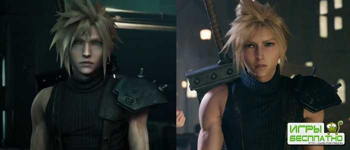 Сравнение графики ремейка ролевой игры Final Fantasy 7