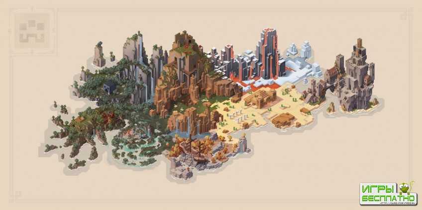 Авторы Minecraft Dungeons показали карту мира