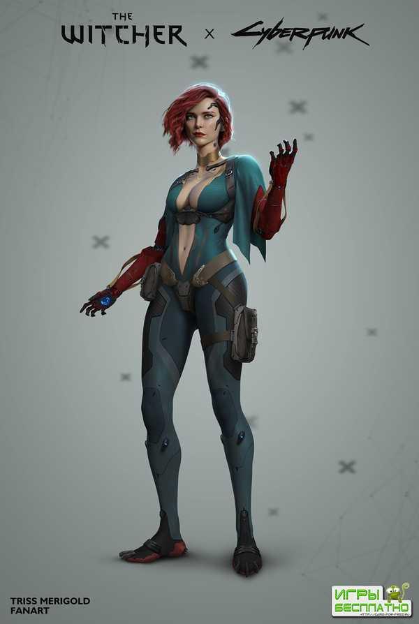 Так могла бы выглядеть Трисс Меригольд в Cyberpunk 2077