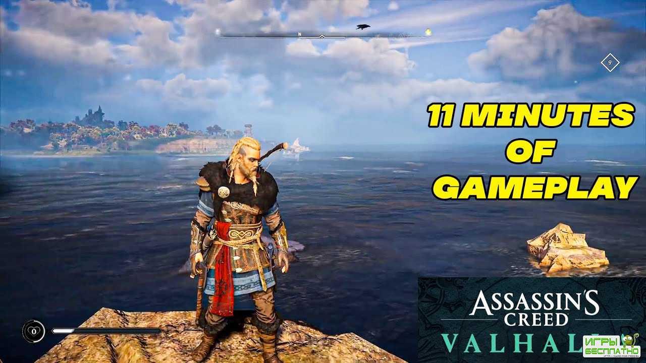 В новом ролике Assassin's Creed Valhalla показали подводное плавание, охоту и зачистку аванпоста