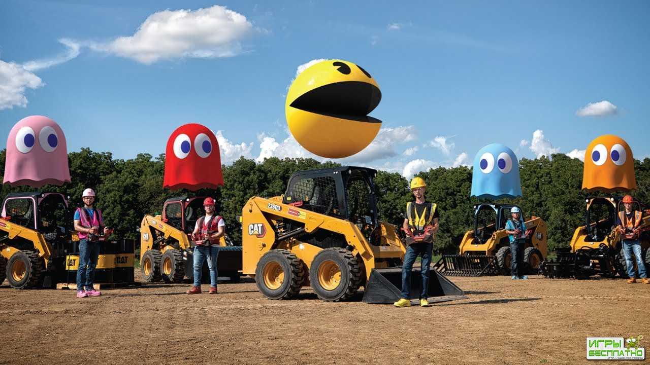 В Pac-Man сыграли в реальной жизни на погрузчиках