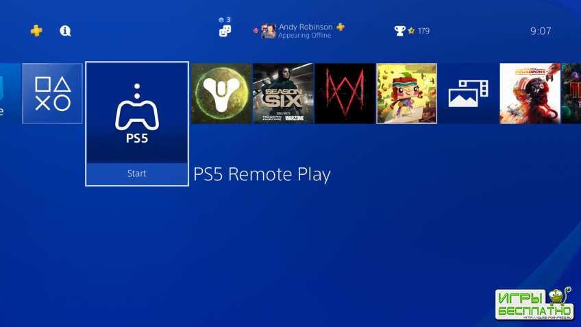 На PlayStation 4 появилось приложение PS5 Remote Play