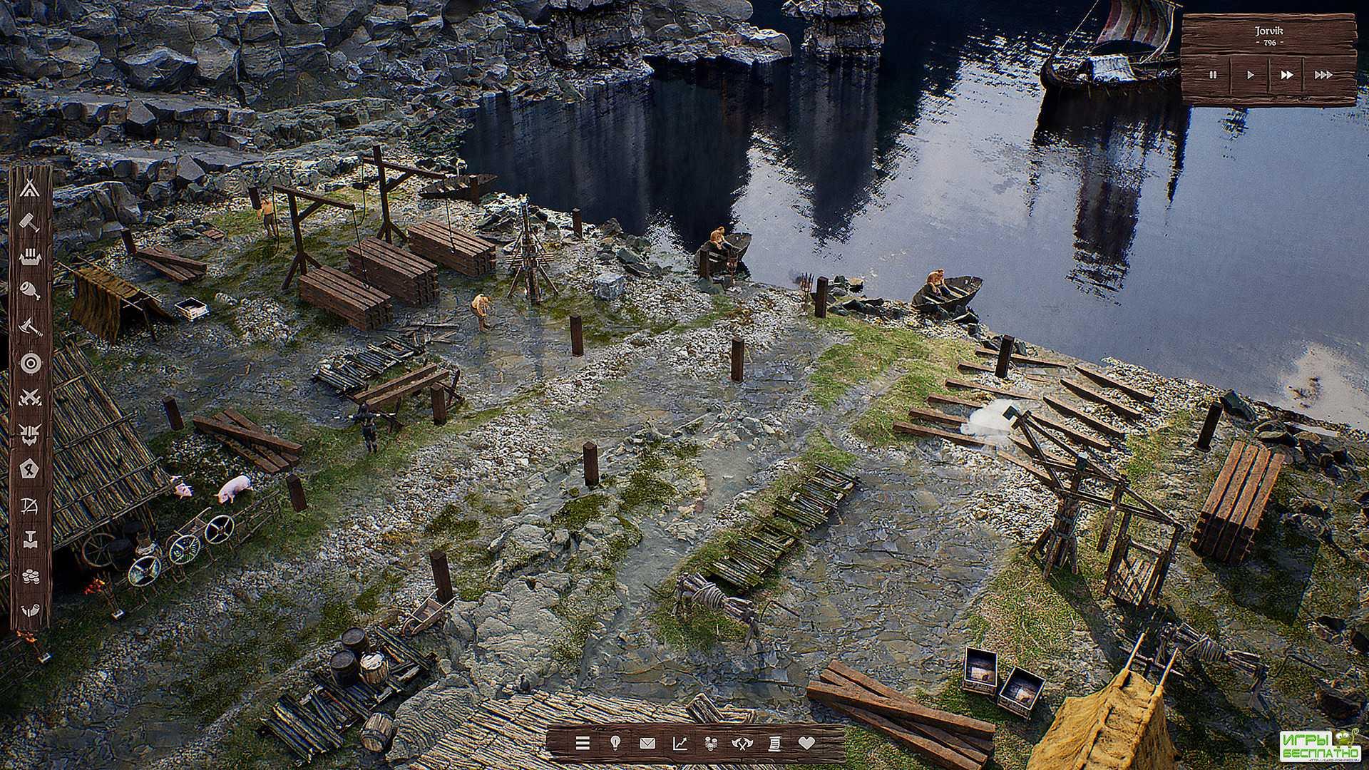 Смена времен года и нападение медведя в трейлере стратегии Viking City Buil ...