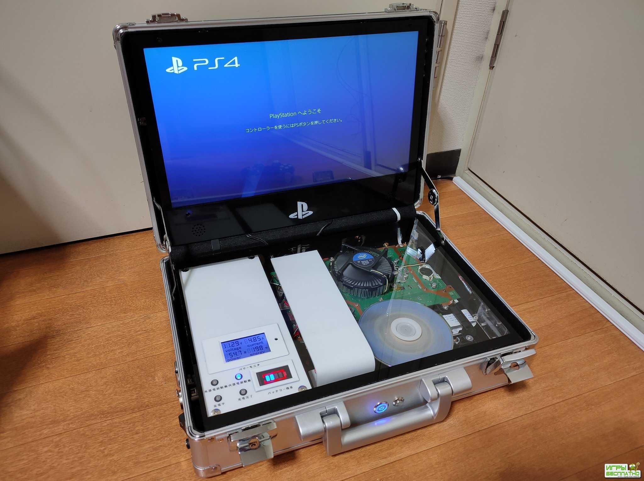 PS4-портфель. Японец создал портативную версию консоли