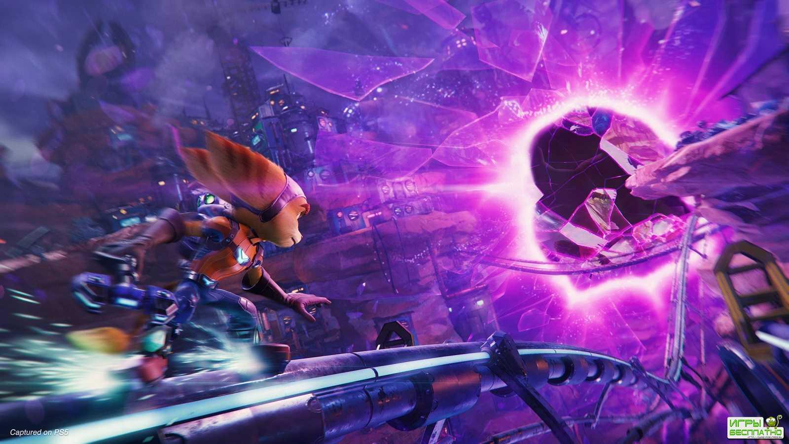 Компания Sony выпустила новый геймплейный трейлер Ratchet & Clank: Rift Apart
