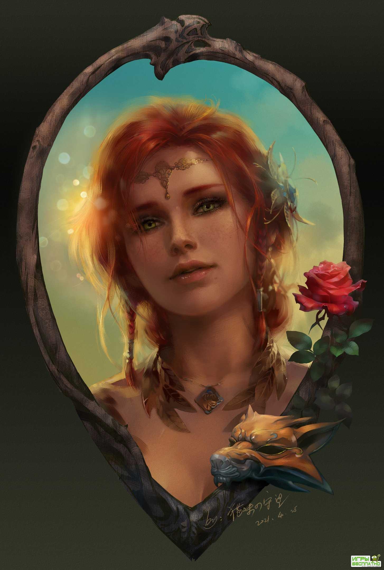 CD Projekt RED понравился фанатский портрет Трисс Меригольд